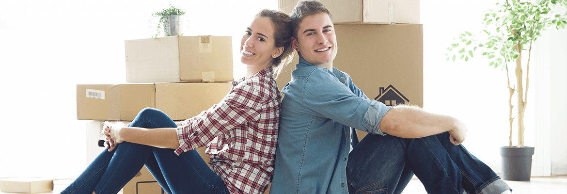 Generation rent and generation landlord - Moving couple
