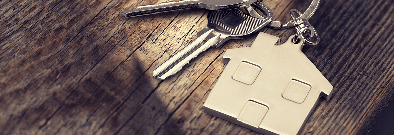 Set Of Keys On A House Keyring