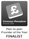 Moneyfacts Finalist Peer to Peer Provider of the Year - Lending Works
